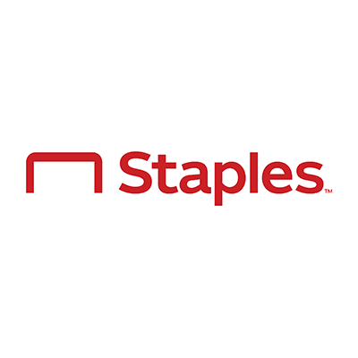Staples logo.